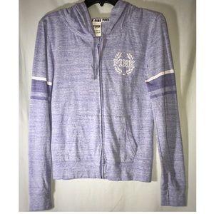 VS PINK (s) Purple Full-Zip Long Sleeve Hoodie